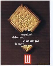 PUBLICITE ADVERTISING 104 1965 LU petit beurre
