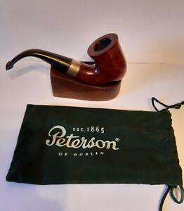 New unsmoked Peterson original smooth sherlock holmes p/ lip  pipe