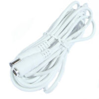 Hanvex 12ft 2.1mm x 5.5mm DC Powe Extension Cord, UL2464 Cable for CCTV, White