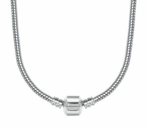 """20"""" (50cm) Genuine Sterling Silver Snap Clasp Snake Charm Necklace with threads"""