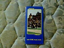 1979 CAL BEARS TRACK FIELD MEDIA GUIDE Yearbook Press Book Program College AD