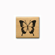Butterfly Mounted rubber stamp, flying, summer bug #23