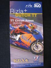 Flyer Rizla+ Dutch TT ( Assen ) 26 June 1999 (TTC)