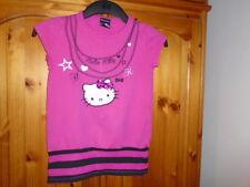 Collana Rosa Rosso Ciliegia Stampa Hello Kitty Top, Hello Kitty a George, 9-10 anni