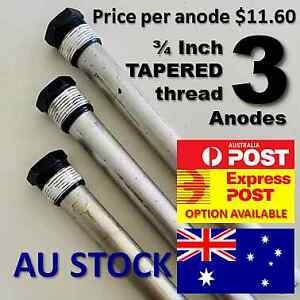 SUBURBAN HOT WATER ANODE X 3 (THREE)  <<<TAPERED THREAD TO SUIT MOST SW6DEA>>>
