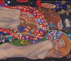 GUSTAV KLIMT water serpants art Vintage painting EUROPE Print  90cm poster