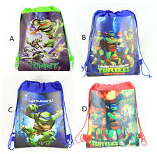 Teenage Mutant Ninja Turtles Environmental Drawstring Backpack Kid Gift Bag AUU