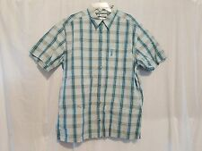 MEN'S COLUMBIA XL MULTI COLORED SHORT SLEEVE BUTTON DOWN