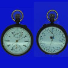 Doppio quadrante cronografo brevetto Indicatore di velocità MENSOR Orologio da taschino 1903