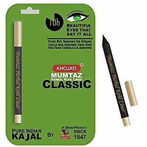 K-Veda Mumtaz Herbal Kohl Liner Classic - Pure Indian Kajal ENRICHED WITH ALMOND