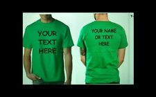 Buy 10 Custom Personalized T Shirts -print your TEXT front and back - Camisetas