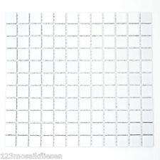 Fliesen Mosaik Mosaikfliese Keramik Boden Bad Küche WC Quadrat wei�Ÿ 6mm Neu #212