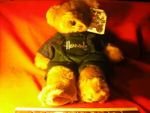New Harrods Farmer Teddy Bear With Coveralls