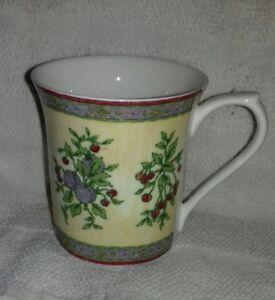 Queen's Fine Bone China Coffee tea Mug in flora pattern