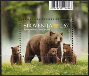 Slovenia 2019 ☀ Bears - mini block ☀ MNH**