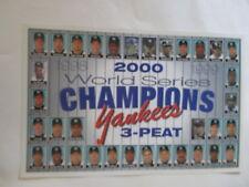 NEW YORK YANKEES 2000 World Series Champions TEAM PHOTO POSTER Derek Jeter