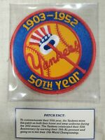 1952 New York Yankees Willabee Ward Cooperstown Collection Baseball Team Patch