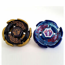 2x Beyblades Set Lot Galaxy Pegasus Pegasus Gold Black Hole/Blue With Launcher