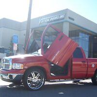 Lambo Doors Dodge Ram Truck 2002-2008 Door Conversion kit Vertical Doors Inc USA