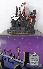 THE NIGHTMARE BEFORE CHRISTMAS - SANTAJACK & ZERO - RESINA DI TIM BURTON'S-cm.16