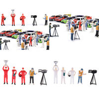 1:64 Race Medal Race Car Driver Figures Scenario Set for  Siku