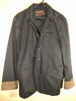 Tripp NYC Black Pinstripe Blazer Suit Jacket Punk Goth Daang Goodman Men's Large