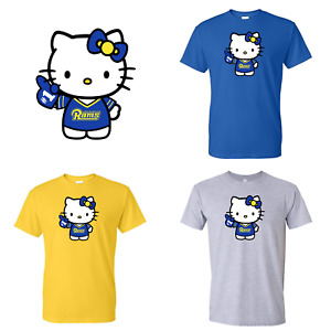 Los Angeles Rams Hello Kitty  Adult And Youth T-Shirt