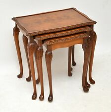 Antique Burr Walnut Nest of Tables