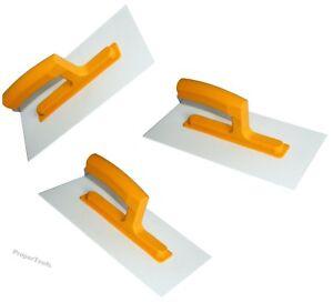 "3 x Plastic Trowel 11"" ABS Texturing Rendering Top Coat Finish Float Hand Tools"