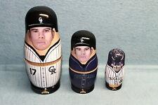 "2003 Colorado Rockies Todd Helton ""Babooshkah"" nesting dolls-New in box!"