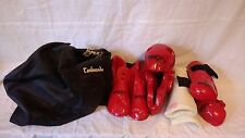 Macho Martial Arts Karate Sparring Gear Set Youth Size Medium; Helmet Glove Boot