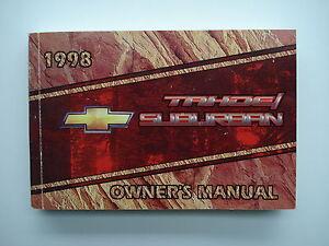 owners manual Bedienungsanleitung Betriebsanleitung Tahoe 1998 english