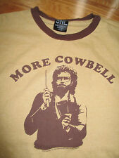 """WILL FERRELL """"MORE COWBELL"""" (LG) T-Shirt BROWN"""