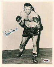 Carmen Basilio Signed 8x10 Photo PSA/DNA COA Picture Autograph World Champion
