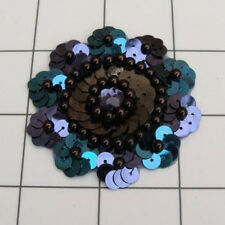 VARIETY COMBO SEQUIN BEADED FLOWER APPLIQUE  2422-D