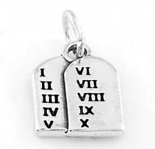 STERLING SILVER TEN COMMANDMENTS TABLET CHARM/PENDANT