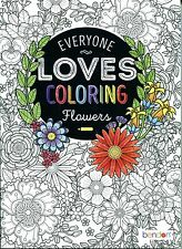Everyone Loves Coloring - Flowers Coloring Book (Paperback, New) Adult