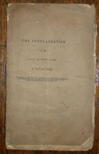 1836 THE CONFLAGRATION ~ GREAT FIRE IN NEW YORK ~ Presbyterian Church Brooklyn