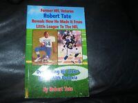 My Journey from Little League to NFL Book Autographed Robert Tate JSA Auc Cert