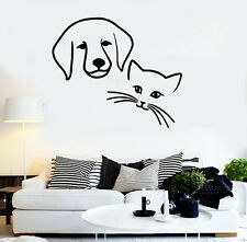 Wall Stickers Vinyl Decal Animal Dog Cat Friendship Wall Decor Mural Vinyl ig024