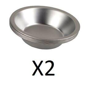 Fox Run Set of 4 Tinplated Steel 5 Inch Pie Pans (Pack of 2)