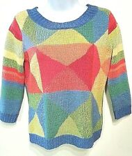 Women's TALBOTS petite size S argyle sweater