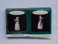Alice in Wonderland Hallmark Miniature Keepsake Ornaments Mad Hatter Rabbit Lot