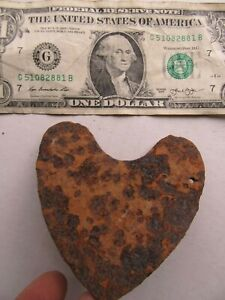 "LG (3 1/2"") Civil War Excavated Heart Lock Cover, Dug Fredericksburg Battle Area"
