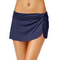 Women's Ruched Swim Skirt Bikini Bottoms Swim Shorts Pants Swimwear Bathing Suit