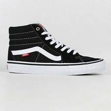 Vans Sk8-Hi Pro Shoes Black/White Skateboard High Top Trainers Old Skool Free UK