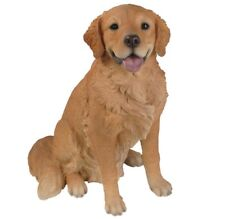 """Golden Retriever Dog Sitting - Collectible Statue Life Size 20""""H New"""