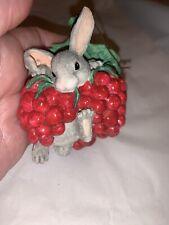 Charming Tails I'M Berry Happy Ornament Rabbit
