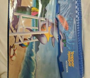 Vintage Trapper Keeper 1991 Mead Shark Beach Lifeguard Surfs up Board Graphic