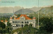 Hawaii, Hi, Honolulu, Executive Building 1910's Postcard
